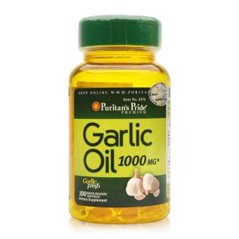 Dầu tỏi tăng cường hệ miễn dịch, hỗ trợ phòng ngừa cảm cúm, giảm cholesterol Puritan's Pride Garlic Oil 1000mg 100 viên