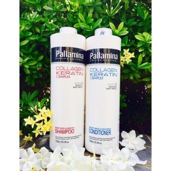Cặp gội xả Pallamina Collagen Keratin 750ml
