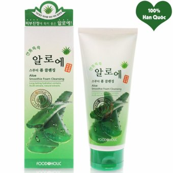 Sữa Rửa Mặt Lô Hội Cân Bằng Độ Ẩm Cho Da Foodaholic Aloe Smoothie Foam Cleansing Hàn Quốc 180ml - Hàng Chính Hãng