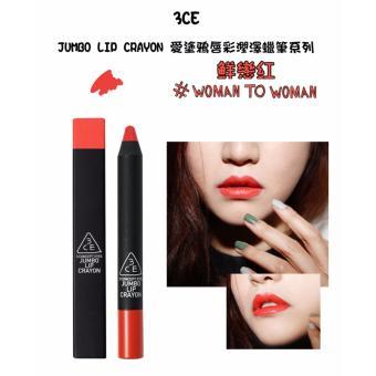 Son bút chì siêu mềm môi 3CE Jumbo Lip Crayon #Woman To Woman - Sắc đỏ cam