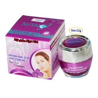 Kem dưỡng trắng Giữ ẩm Se khít lỗ chân lông Ngọc Trai và Collagen NANYNO (22g)