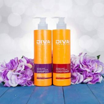 Cặp dầu gội phục hồi giữ màu tóc DIVA vàng 400ml