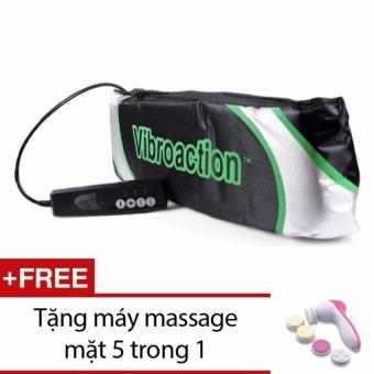 Đai massage thon gọn bụng Vibroaction (Đen) +Tặng máy massage mặt 5 trong 1