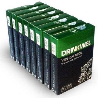 Bộ 8 hộp viên giải rượu Vioba DRINKWEL vỉ 4 viên (Đen)