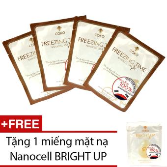 Bộ 4 mặt nạ Nanocell Xen-lu-lo Freezing Time + Tặng mặt nạ Nanocell Bright Up