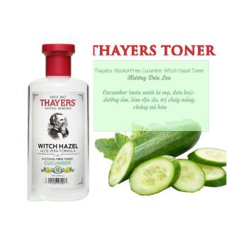 Nước Hoa Hồng Không Chứa Cồn Thayers Alcohol Free Witch Hazel Toner Cucumber dành cho da khô, da nhạy cảm 355ml