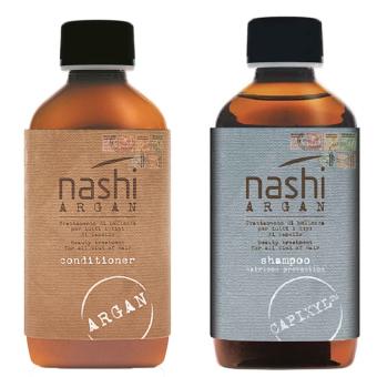 Bộ dầu gội dưỡng tóc phục hồi Nashi Argan Shampoo và dầu xả dưỡng tóc Phục hồi Nashi Argan Conditioner 200 ml