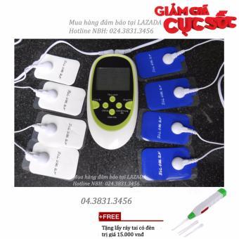 Máy massage xung điện châm cứu 8 chức năng + Tặng lấy ráy tai có đèn