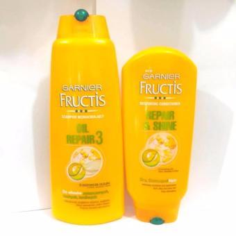 Bộ dầu gội xả Garnier Fructis cho tóc khô, gãy và nhuộm