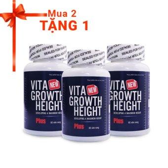 Mua Bộ 2 Viên tăng chiều cao Vita Growth Height 60 viên + Tặng 1 sản phẩm cùng loại giá tốt nhất
