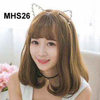 Bộ tóc giả cúp đuôi mái thưa Hàn Quốc