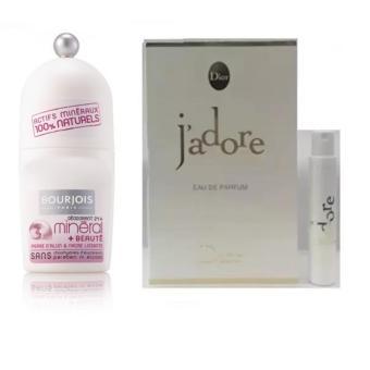 Lăn khử mùi nữ Bourjois Mineral Beauty 50 ml + Tặng kèm 01 vỉ nước hoa nữ Dior Jadore EDP 1 ml