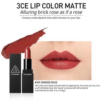 Son Thỏi Lì 3ce Stylenanda Lip Color Matte #909 Smoked Rose (Đỏ Gạch)