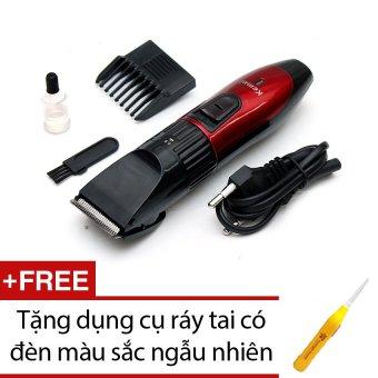 Tông đơ cắt tóc trẻ em Kemei 730 (Đỏ) + Tặng dụng cụ ráy tai có đèn
