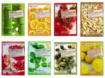 Bộ 8 Loại Mặt Nạ 3d Foodaholic Hàn Quốc Natural Essence Mask X 23g