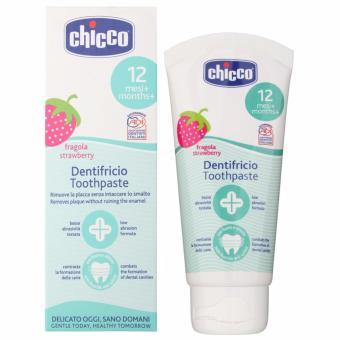 Kem đánh răng Chicco hương dâu tây cho trẻ trên 12 tháng tuổi 50ml