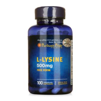 HSD tháng 8/2017 Viên uống kích thích ăn ngon miệng, tăng cường cơ bắp Puritan's Pride L-Lysine 500mg 100 viên