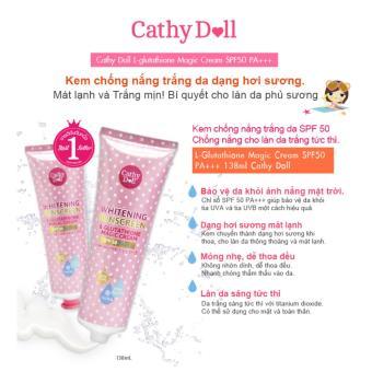 Kem chống nắng trắng da Cathy Doll L-glutathione Magic Cream SPF50PA+++ 138ml - 2
