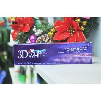 Kem đánh răng Crest 3D White Radiant Mint Flavor Whitening 156g - 2
