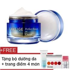 Nơi mua Kem dưỡng ngăn ngừa lão hóa, săn chắc da Laneige Perfect Renew Cream 50ml + Tặng mặt nạ ngủ ngăn ngừa lão hóa 10ml + Sữa rửa mặt đa năng 100ml + Mặt nạ môi 3g + Vỉ son Serum Intense 4 màu