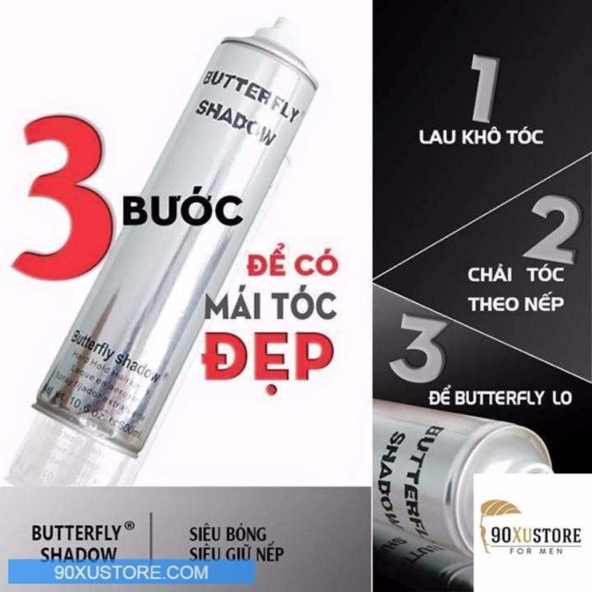 Keo xịt tạo kiểu tóc Butterfly 320ml - STT-BT3308