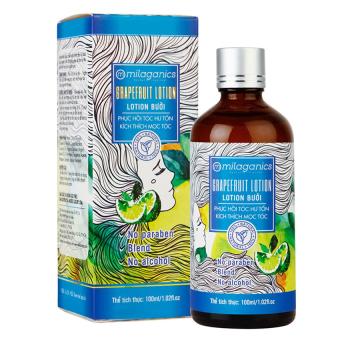 Lotion bưởi phục hồi tóc hư tổn Milaganics 100ml