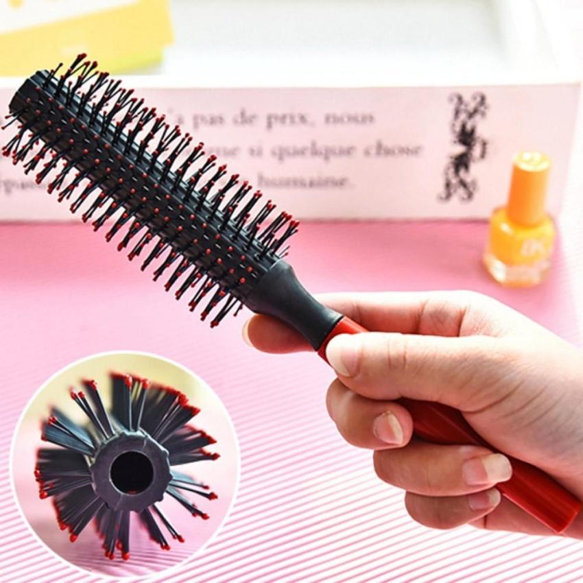 Lược Cuộn Tròn Chải Tóc dùng để Chăm Sóc và Tạo Kiểu Tóc Uốn Cong Gợn Sóng - quốc tế...