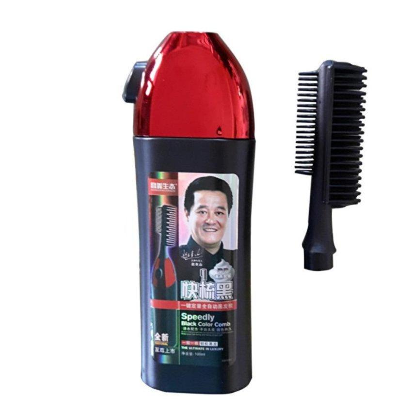Lược nhuộm tóc thông minh thế hệ mới 1 nút bấm (đen)