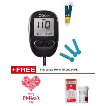 Máy đo đường huyết OGcare Hàng nhập khẩu - Tặng hộp 25 que thử