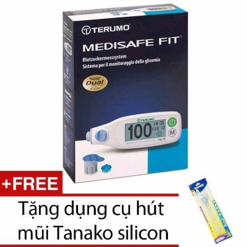 Nơi bán Máy đo đường huyết Terumo Medisafe Fit (Trắng) + Tặng dụng cụ hút mũi Tanako silicon