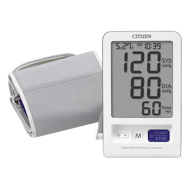 Nơi bán Máy đo huyết áp bắp tay CITIZEN CH-456 (Trắng-Ghi )
