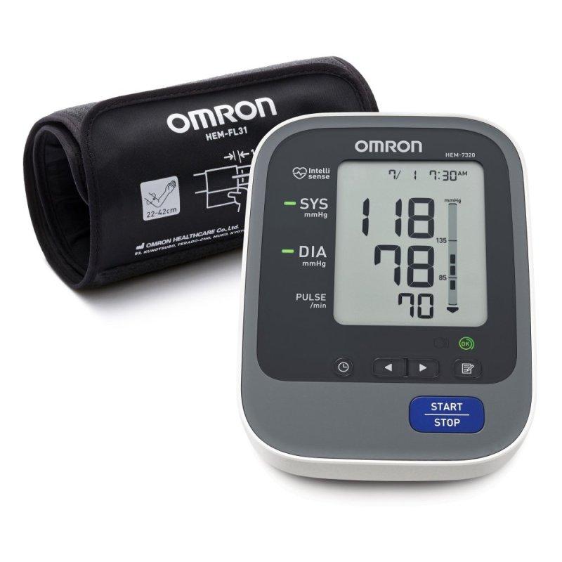 Nơi bán Máy đo huyết áp bắp tay tự động Omron HEM-7320 (Trắng phối xám)