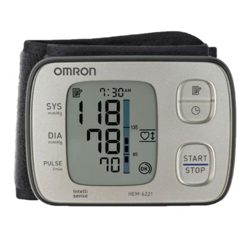 Nơi bán Máy đo huyết áp cổ tay Omron HEM-6221 + Tặng nhệt kế điện tử Omron