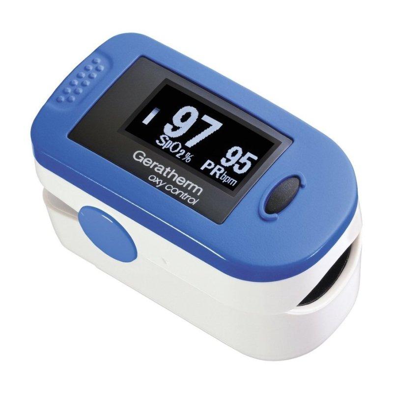 Nơi bán Máy đo nồng độ oxi trong máu Geratherm GT-300C203 (Trắng phối xanh)