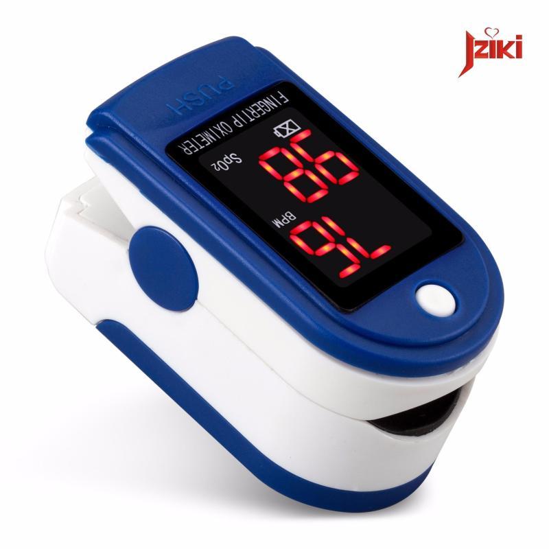 Nơi bán Máy - thiết bị - dụng cụ đo nồng độ oxy trong máu và nhịp tim Jziki với màn hình LED cao cấp hiện thị kết quả chính xác cao _ màu xanh