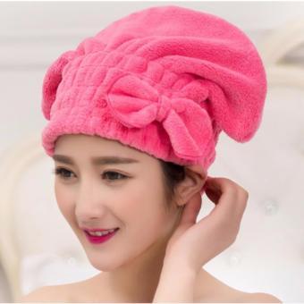 Mũ tóc bảo vệ tóc khi tắm (Hồng đậm)