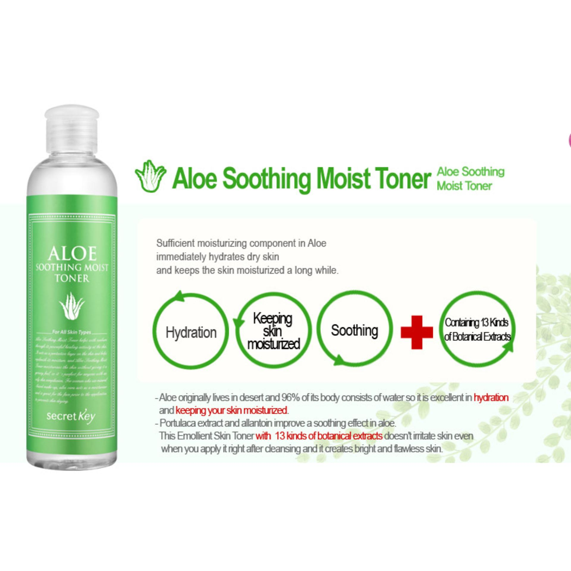 Sn M Km Nc Hoa Hng Dng Da Mm Mt Secret Key Aloe Fresh Toner 248ml Soothing Moist