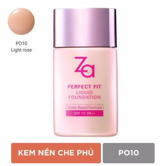 Phấn nền dạng lỏng Za Perfect Fit Liquid Foundation Po10 30ml