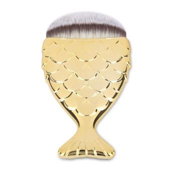 Portable Fishtail Shape Makeup Soft Hair Foundation Brush Beauty Tools - intl