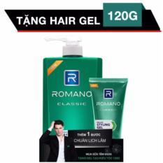 Romano - Sữa tắm  hương nước hoa  650g - Classic + Tặng Gel vuốt tóc 120 g