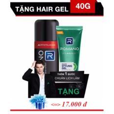 Romano - Xịt khử mùi Hương nước hoa 150 ml - Attitude ++ Tặng gel vuốt  tóc 40 g