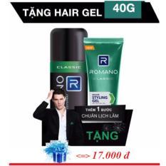 Romano - Xịt khử mùi Hương nước hoa 150 ml - Classic ++ Tặng Gel vuốt  tóc 40 g
