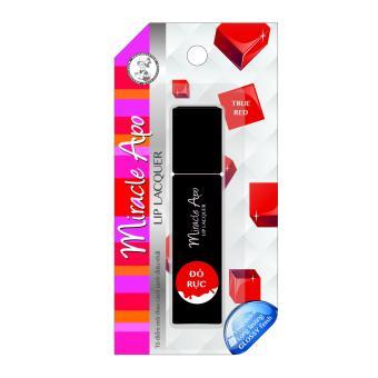 Son kem bóng Miracle Apo Lip Lacquer True Red 3ml (Đỏ rực)