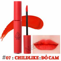 Son kem lì 3CE Velvet Lip Tint màu 07 ChildLike - Đỏ cam