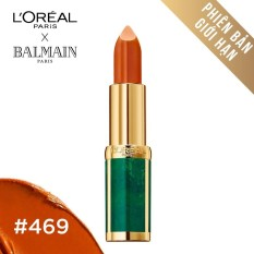Son màu mịn môi L'Oreal Paris Balmain - 469: Cam đất
