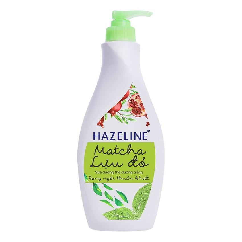 Sữa dưỡng thể HAZELINE matcha & lựu đỏ 370ml