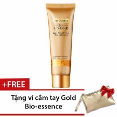 Sữa rửa mặt ngăn ngừa dấu hiệu lão hóa chiết xuất vàng sinh học 24K Bio-Gold Bio-essence 100g (ban ngày) + Tặng 1 ví mỹ phẩm Gold Bio-essence