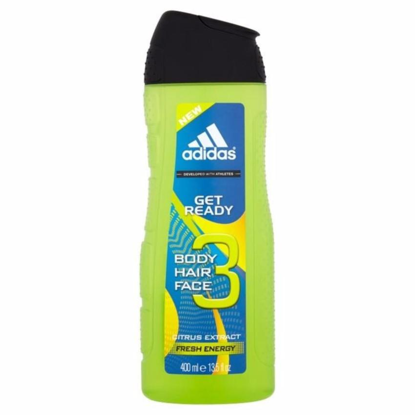 Sữa tắm gội rửa mặt 3 trong 1 cho nam 400ml Adidas 3 in 1 Get Ready