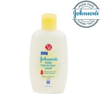 Sữa tắm toàn thân cho bé Johnson baby top to toe wash 100ml