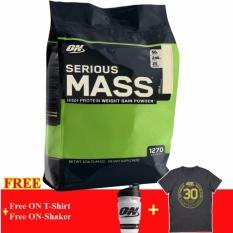Giá Niêm Yết Thực phẩm bổ sung tăng ký ON Serious Mass Vanilla 12 lb + Tặng Bình lắc và Áo Thun